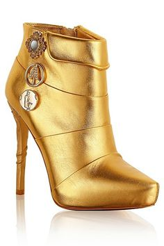 H Anna Dello Russo for H 2012 Fall Winter #shoes #woman #shoe #accessory #golden #gold #fashion