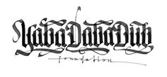 calligraphi.ca - www.YabaDabaDub.com is going to rise and shine soon  - Pentel Parallel pen on printer paper - SPIT