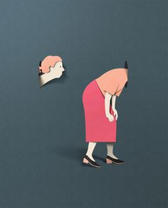 New Paper Textured Editorial Illustrations by Eiko Ojala | Colossal