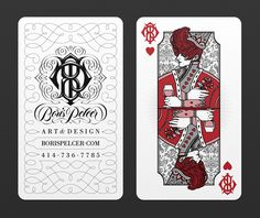 Borispelcer13 businesscardslayout1 #card #illustration #playing #typography