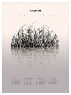 Caspian 2013 Tour Poster #fork #poster #music #sam #east #kaufman
