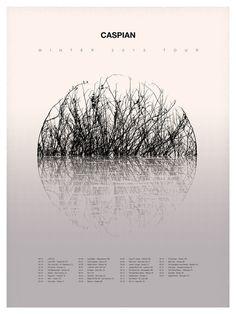 Caspian 2013 Tour Poster