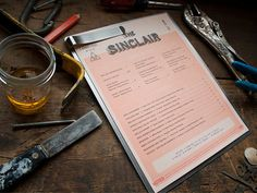 The Sinclair on Behance #menu #restaurant #collateral