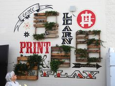 los angeles printing fair #sign #type #display #wall