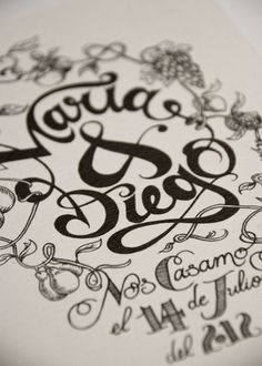 María #calligraphy #lettering #typography