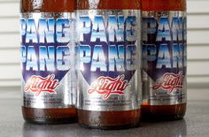 Packaging for PangPang Aight – the worlds crappiest adjunct beer. #graphic design #graphic #design #branding #packaging #colorful #colourf