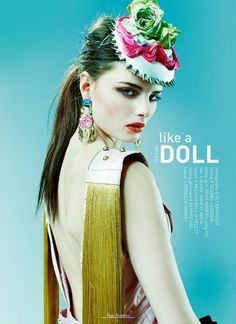 Like A Doll | Volt Café | by Volt Magazine #beauty #design #graphic #volt #jewellery #photography #art #fashion #layout #magazine #typography