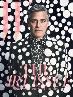 'W Magazine' Isn't That Great, But This Yayoi Kusama-Directed Spread of George Clooney Is #cover