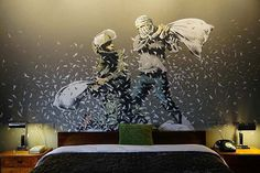 Banksy opens hotel in Bethlehem, and it has the 'Worst View In The World' #banksyhotel #banksy #TheWalledOff #Bethlehem #Palestine #wes