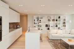 White Loft by Konastantyn Kaschuck #kitchen #interiors