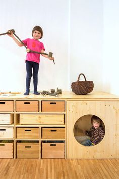 Super fun storage for kids via the contemporist #interior #room #design #decor #deco #kids #childrens #decoration