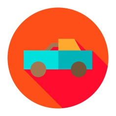 See more icon inspiration related to truck, farming and gardening, pick up truck, pick up, side view, transportation and transport on Flaticon.