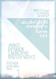 Neeo #font #avant #poster #futura #garde #typography