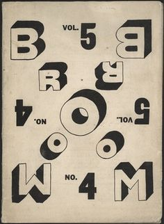 MoMA | The Collection | El Lissitzky. Broom, vol. 5, no. 4. 1923 #proun #el #lissitzky #suprematism