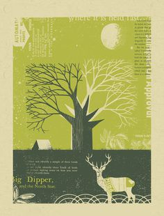 il_570xN.400240413_husj #illustration #deer #tree