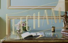 Fetcham Park by Kevin Cantrell #lettering #branding #kevin #gold #cantrell #typography