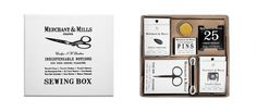 Merchant & Mills Sewing Notions Set - Kaufmann Mercantile Store #packaging #box #set #sweing #typography