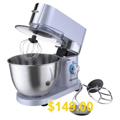 1500W #8 #Speed #Stand #Mixer #5.5L #Stainless #Bowl #Tilt-Head #Electric #Kitchen #Mixer #With #Balloon #Whisk