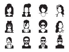 WOW. Karaoke school identity #illustration #vector #identity #faces