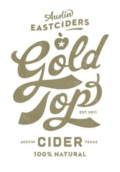 I am thankful for this. #apple #austin #gold #type #typography