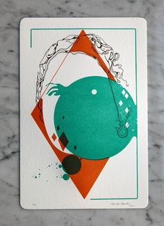 Nando Costa Portrait Promotion - FPO: For Print Only #print #letterpress #illustration