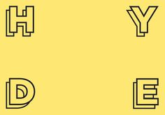 Animated logo #hyde #branding #pink #gotham #yellow #colours #collective #art #logo #blue #pastel