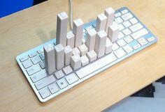 Keyboard Frequency Sculpture - Mike's Blog #sculpture #keyboard