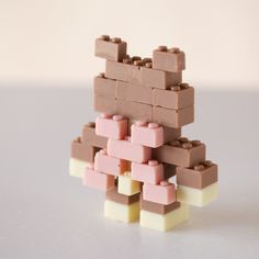 CHOCOLATE LEGO:ACGUY on Behance #chocolate #toys #lego