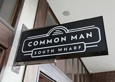 Common Man - Restaurant #logo #sign #signage #restaurant #common man
