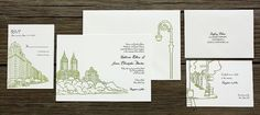 PostScript Brooklyn - San Remo, PostScript Brooklyn, affordable wedding invitations - Wedding Invitations Inspired By Brooklyn #card #invitation