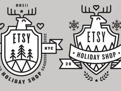 Etsy #reindeer #etsy #holiday #logo #badgem