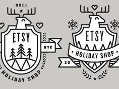 Etsy #reindeer #etsy #holiday #logo #badgem