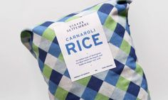 Via XX Settembre #pattern #rice #packaging #carnaroli #cloth