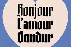 Vllg blackletra bonjourgandur image #type #blackletter #gothic #typeface