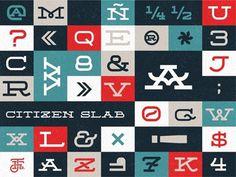 Citizen Slab #type #font
