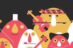 Volkoren16 #flyer #design #graphic #illustration #music #characters