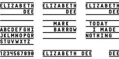 Elizabeth Dee : Jeff Jarvis #type #logo #typography