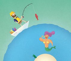 Funyuns on Behance By Nathan Fyock and David Behar #fisherman #bulge #ss #funyuns #zest #mermaid