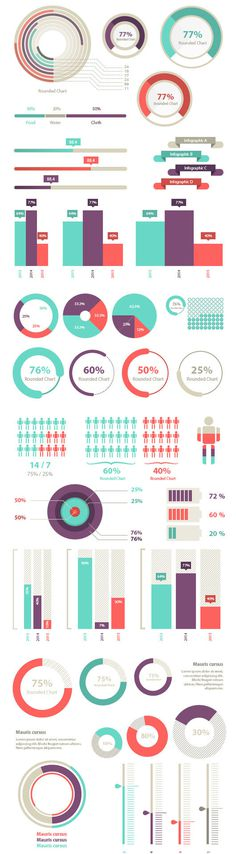 Stylized infographic charts #ui #charts #infographics #graphs