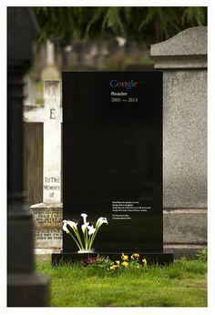 RIP google reader #rip #saville #peter #google #reader #typography