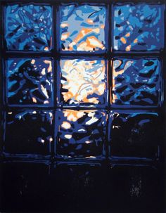 """Sunset"" by Daniel Adams - Woodcut Print #HUDesign #woodcut #dadum #wood #print #window"
