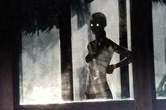 tumblrll02dl7nif1qz6f9y.jpg (500×332) #bright #eyes #illuminated #portraits #dark #nudes