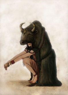 Illustrations2 #illustration #buffalo #girl #silly
