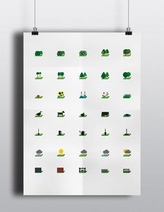 Simplicity Garden Pictograms and Illustrations by Grigoriy Zaitsev