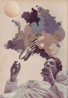gdi09_05.jpg (500×720) #collage #clouds #paper #dream #sleep