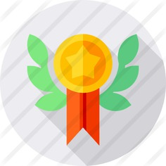 See more icon inspiration related to sports and competition, seo and web, certification, quality, winner, certificate, award and medal on Flaticon.