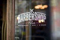 type novel #shop #barber #design #graphic #logo