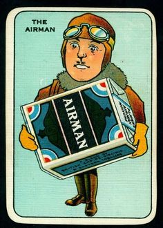 All sizes | Snap Cards - Airman Cigarettes | Flickr - Photo Sharing! #illustration #vintage