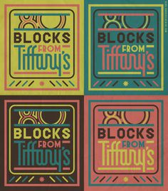 """80 Blocks from Tiffany's"" #typography #southbronx #70s #bronx #nyc"