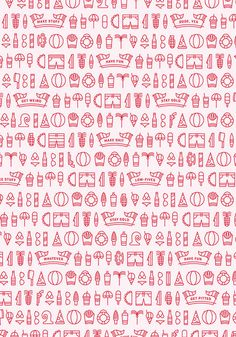 Summer Stuff #ocean #palm #pattern #tree #icon #pink #illustration #fun #summer #beach